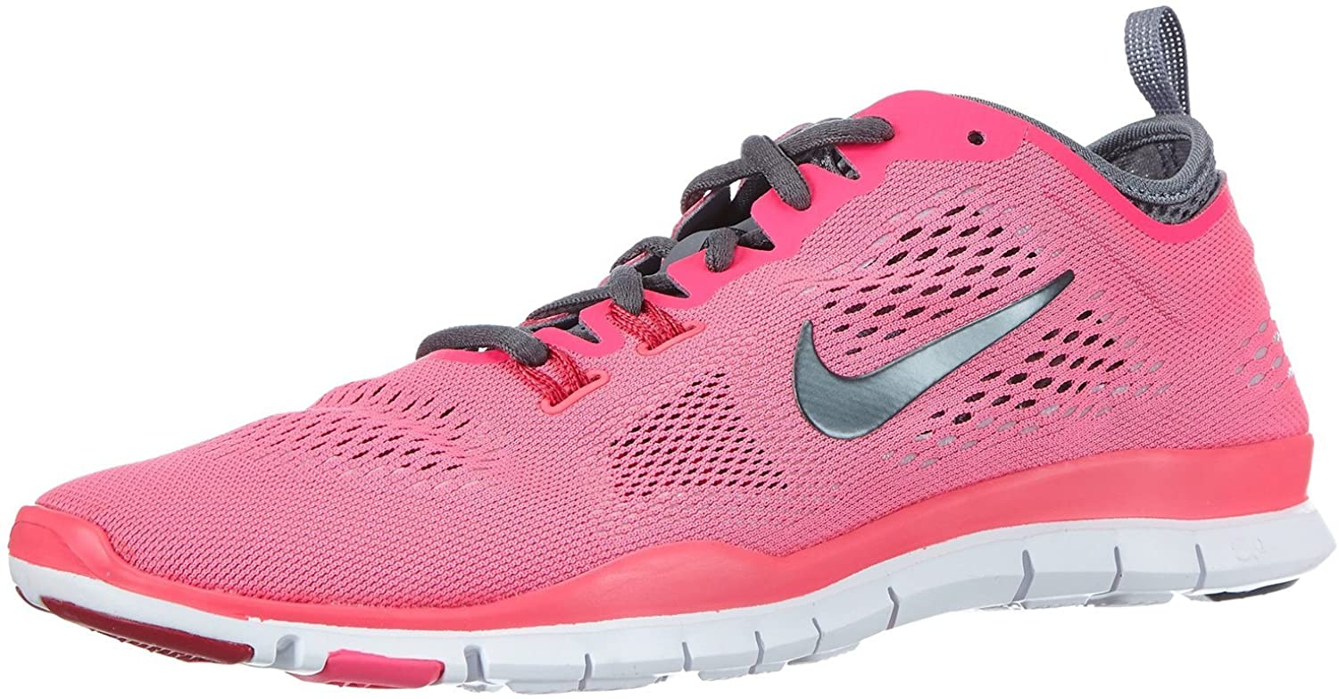 Nike Womens Free Fit 4 Team Trainers 5 US Hyper Pink/Grey/Grey