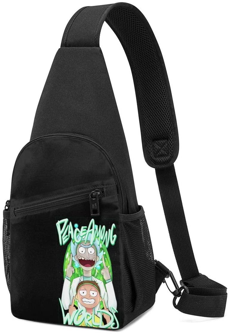 N/C Rick and Morty Sling Bag Chest Bag Shoulder Backpack Cross Body Travel