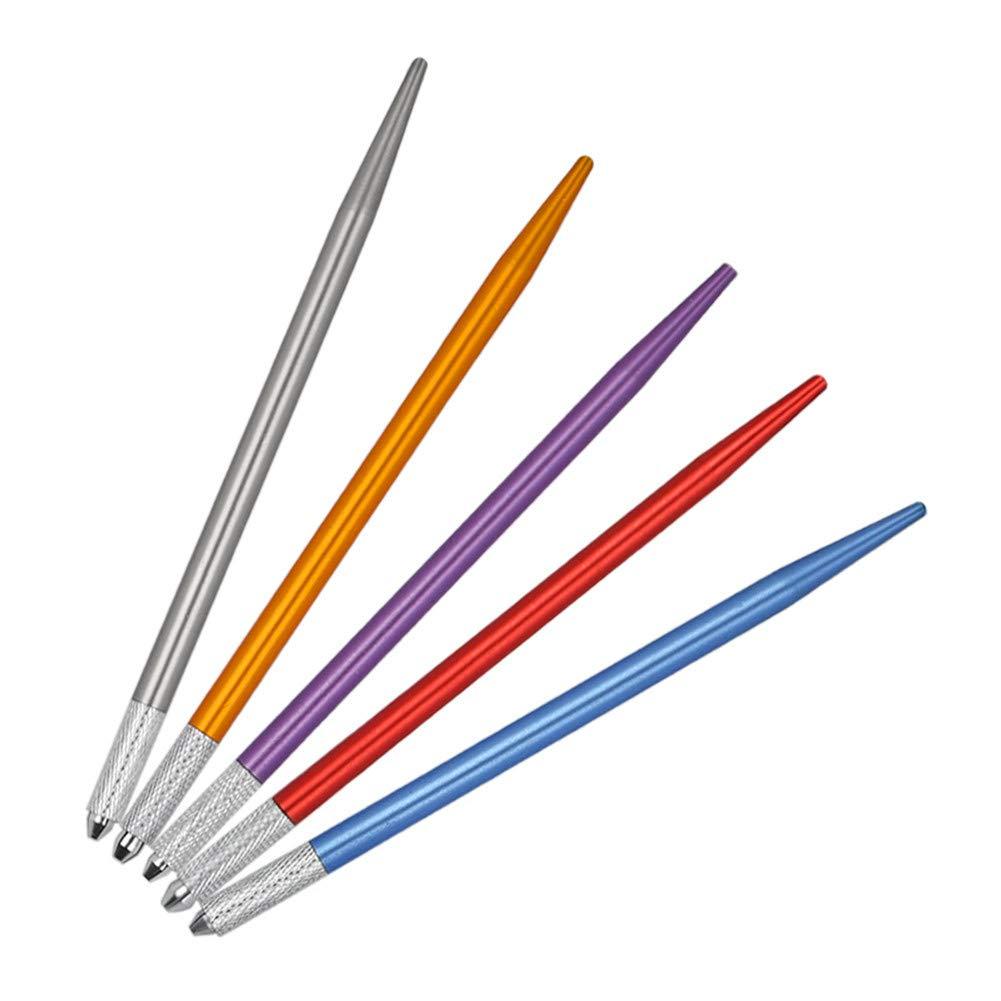 ATOMUS 5PCS Eyebrow Tattoo Microblading Pen Manual Tattoo Machine Microblading Supplies Pen Kit for Permanent Makeup