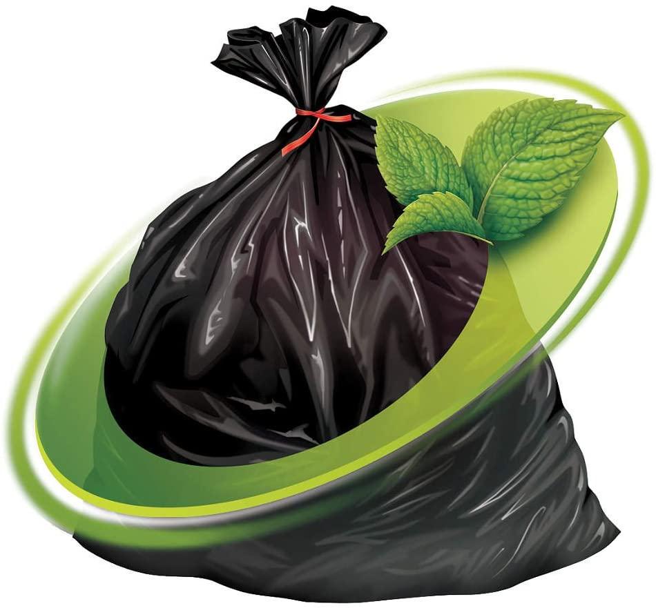 Trash Bag, 60 gal., LLDPE, Black, PK100
