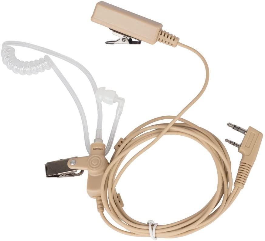 Xunbin 2-pin Earpiece Headset Mic for Kenwood Puxing Wouxun Radio Security Door Supervisor (Beige Flesh Color)