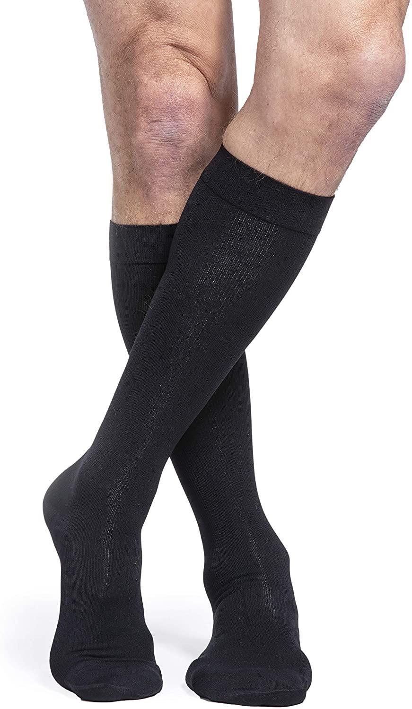 SIGVARIS Women's Essential Cotton 230 Closed Toe Calf-High Socks 20-30mmHg