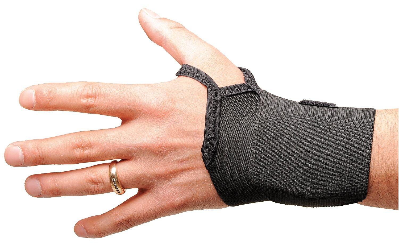 Condor Slide On, Single Strap Wrist Wrap, Elastic Material, Black, L/XL Black Elastic 4WW03-1 Each