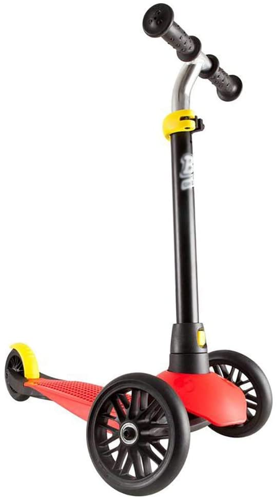 PLLP Outdoor Sports Scooter Kick,Toddlers Kick, Adjustable with Wide Pedal Rear Brake, 20 Kg Capacity, Lightweight Easy Assembled Board Adult Child Toy Balance Car Mini,Red