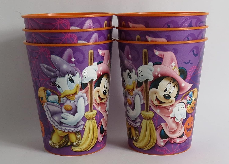 6 Halloween Disney Pixar Reusable Treat Favor Party Cups (Halloween Minnie)