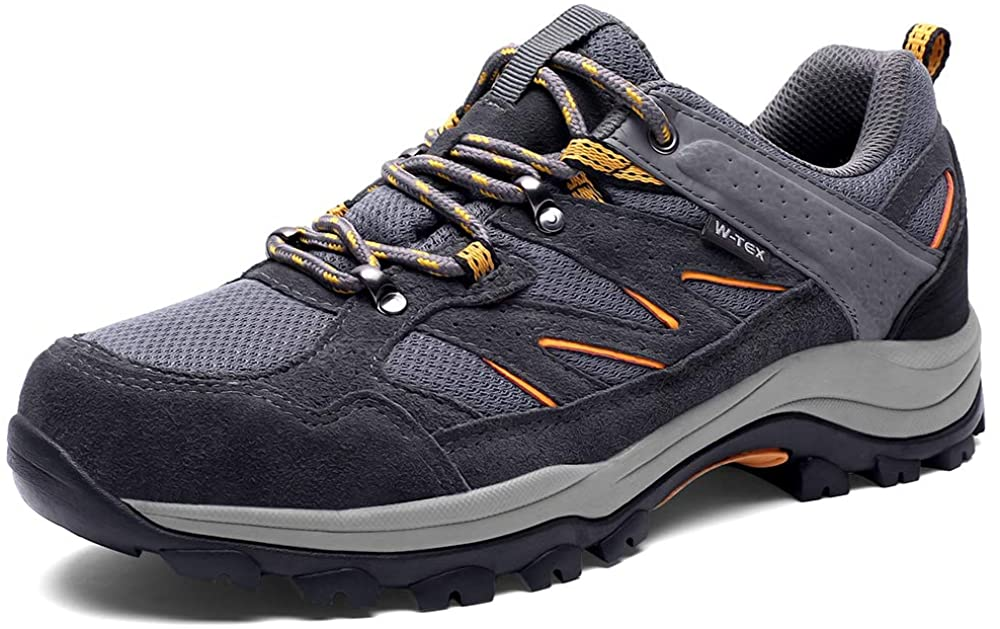 SILENTCARE Hiking Shoes Men Waterproof Non-Slip Lightweight Walking Shoes Breathable Low Top for Outdoor Trekking Backpacking