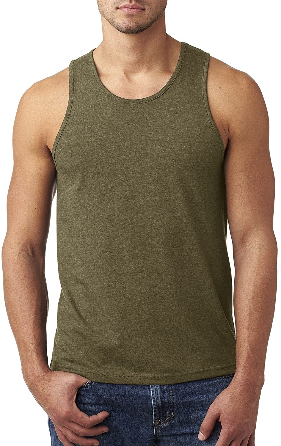 Product of Brand Next Level Mens CVC Tank Top - Military Green - S - (Instant Savings of 5% & More)