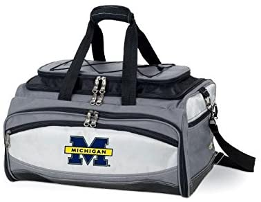 Picnic Time Buccaneer University of Michigan Wolverines NCAA Digital Print BBQ Grill