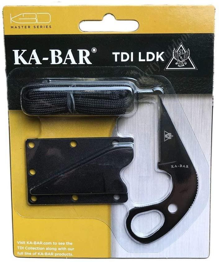 KA-BAR 1478BP TDI Law Enforcement Ldk-Blister Pack, Black Hard Plastic Sheath, Str Edge