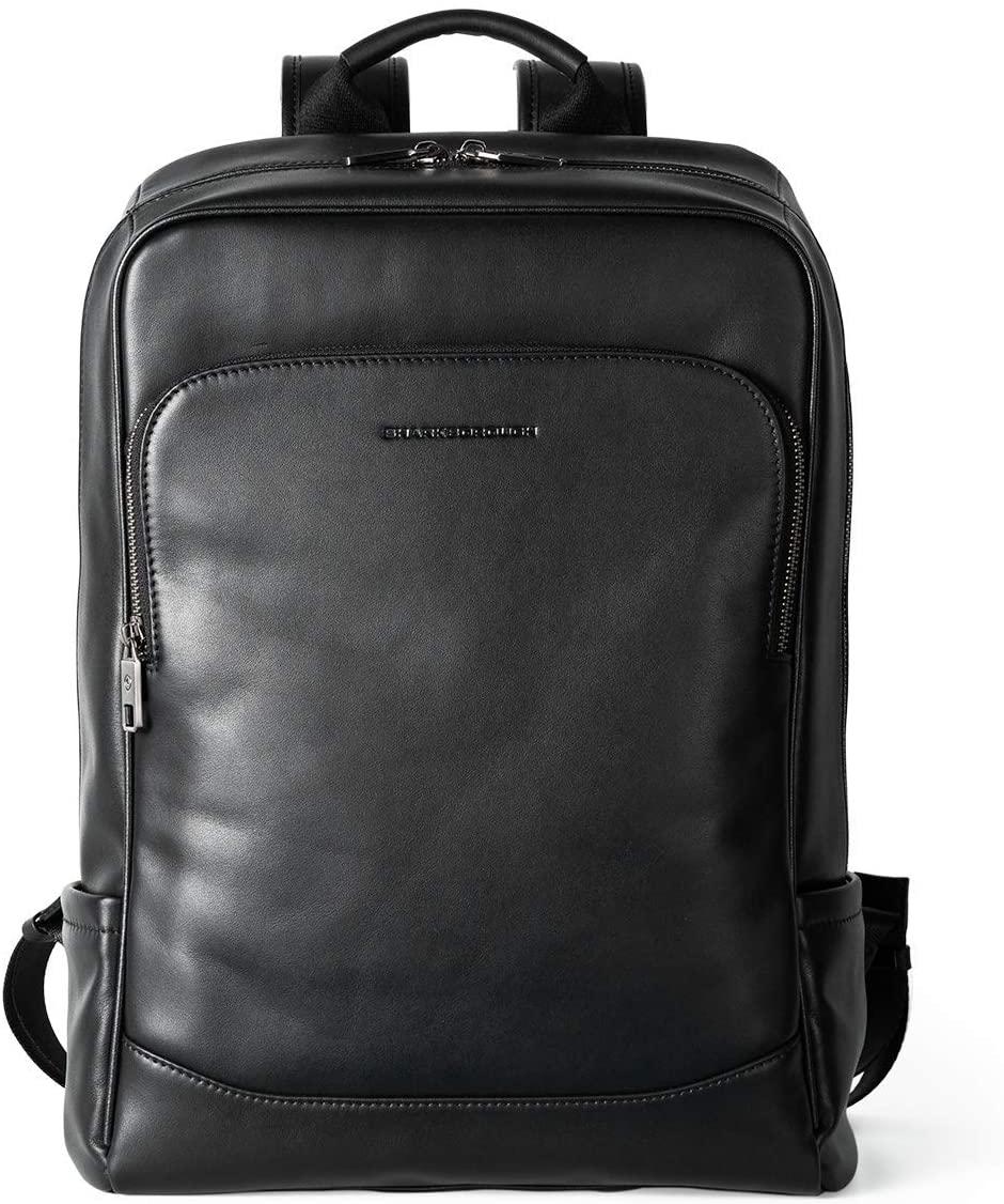 Sharkborough The Entrepreneur Men's Backpack Genuine Leather Business Travel Bag Extra Capacity
