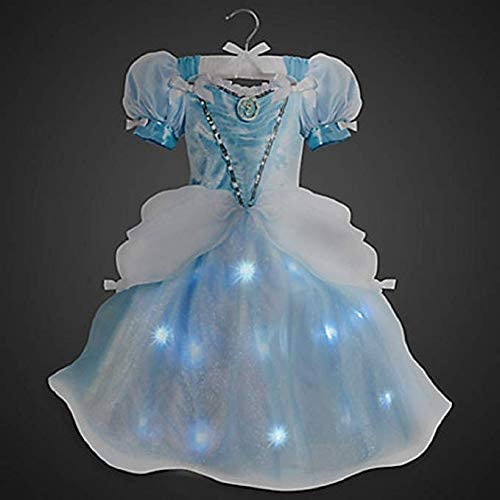 Cinderella Light Up Lights Costume Disney Store Size 5/6 Small