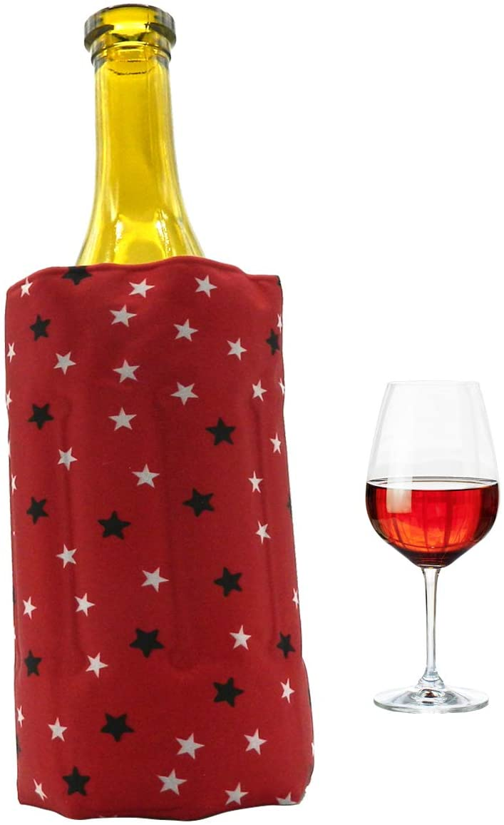 Rapid Ice Wine Cooler, Gel Wine Bottle Chill Cooler Ice Pack - Freezer Sleeve- Vodka- Tequila Chiller- Cooler- Carrier (Type B)