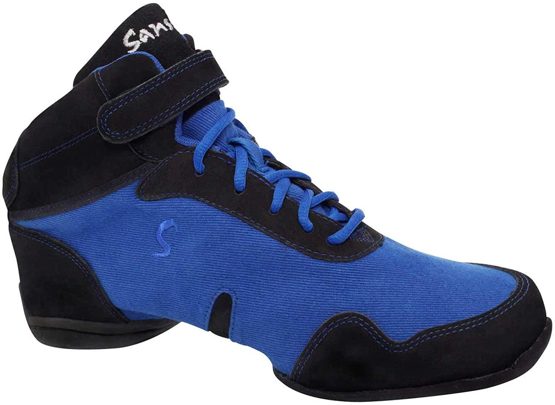 Skazz by Sansha Women's Dance Studio Exercise Sneakers Canvas Suede TPR Split-Sole Boomelight (US 6.5 / Skazz 06 M)