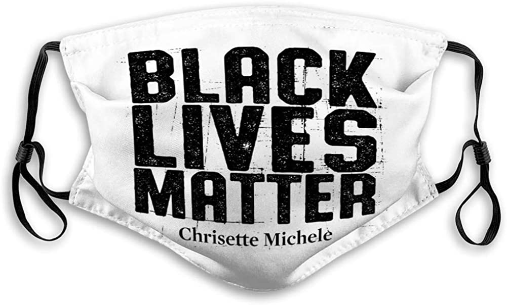 Washeable Reusable Mouth Shield Cotton Black Lives Matter Face Covers