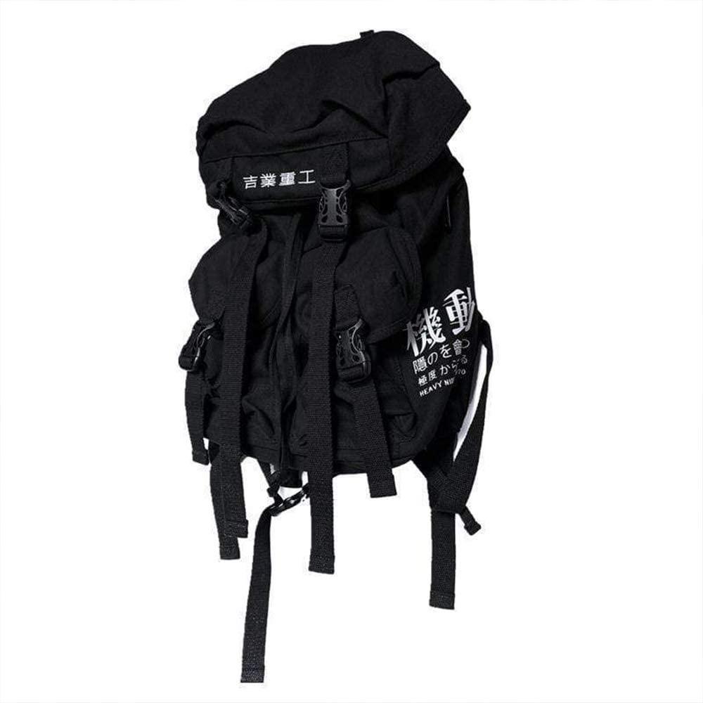 Aelfric Eden Men's Fashion Buckle Travel Backpack 2020 Hip Hop Canvas Streetwear Harajuku Backpack