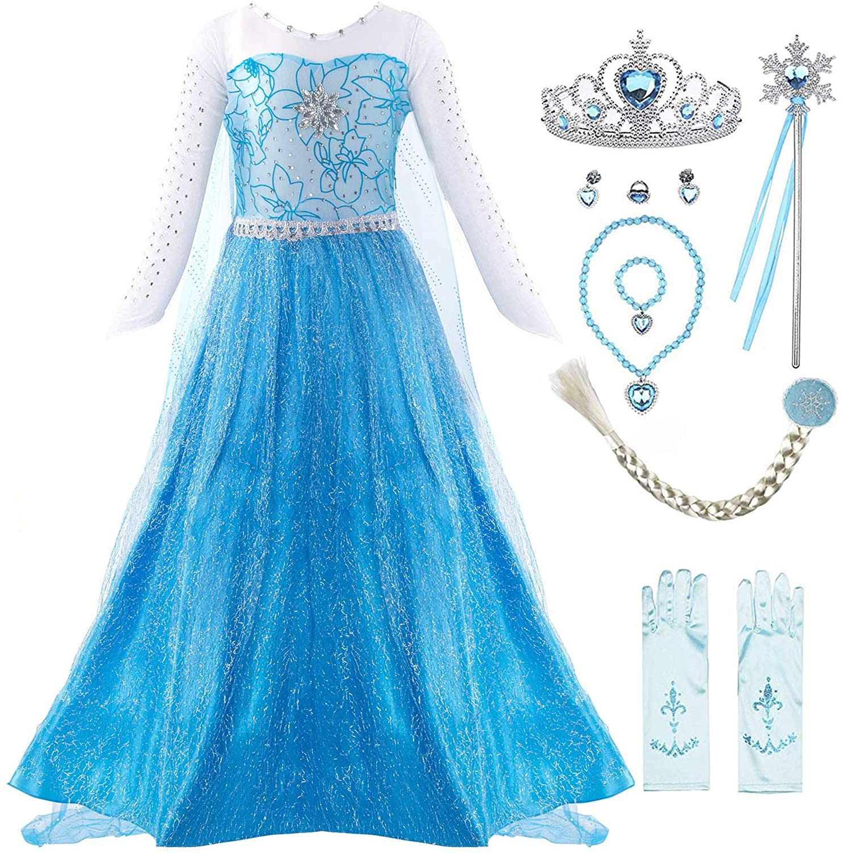 Padete Little Girl Princess Dress Snow Party Queen Halloween Costume