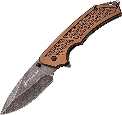 U.S. Marines by MTech USA M-A1047 Series Spring Assist Folding Knife, 5-Inch Closed