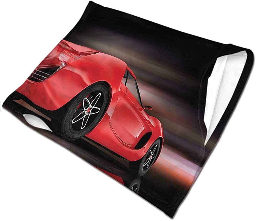 Face Bandanas Cars,Futuristic Red Sports Tactical Neck Tubes