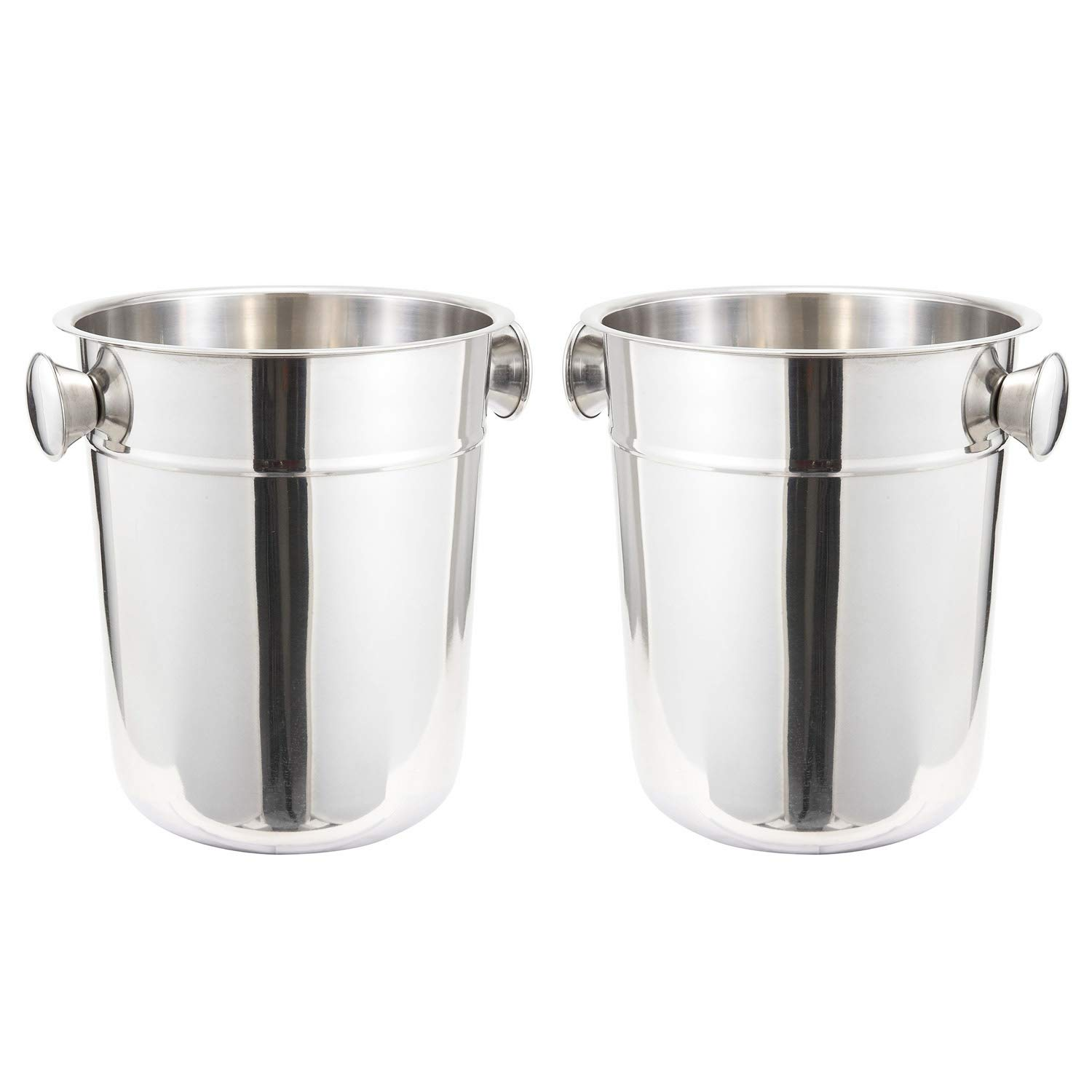 Tiger Chef 8 Quart Champagne Bucket Wine Chiller Bucket Wine Bottle Chiller Wine Cooler Bucket Ice Buckets For Parties Beer Bucket Beverage Tub Ice Tub - 2 Pack