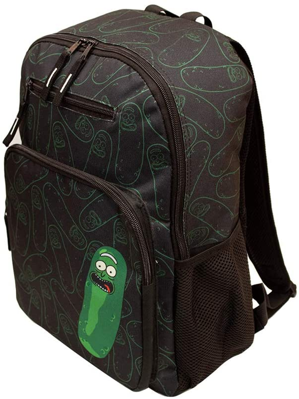 Rick and Morty Pickle Rick Black Backpack