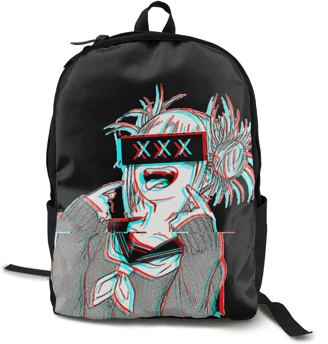 GekhHaon My Hero Academia-Himiko Toga College Backpack Student Bookbag Multipurpose DaypacksTraveling Backpack