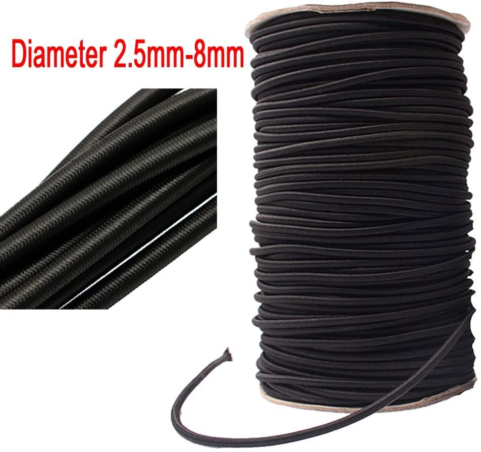 5 Meters Strong Elastic Rope Bungee Shock Cord Stretch String for DIY Jewelry Making Outdoor Project Tent Kayak Boat Backage (Diameter 4mm)