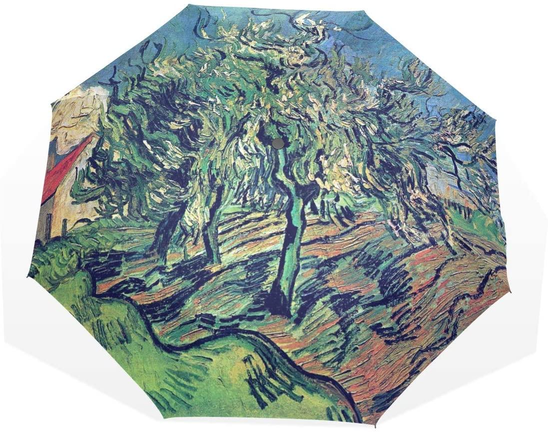 Huakz Van Gogh's Works Customized Umbrella Surface Design Oil Painting Plant 10.5