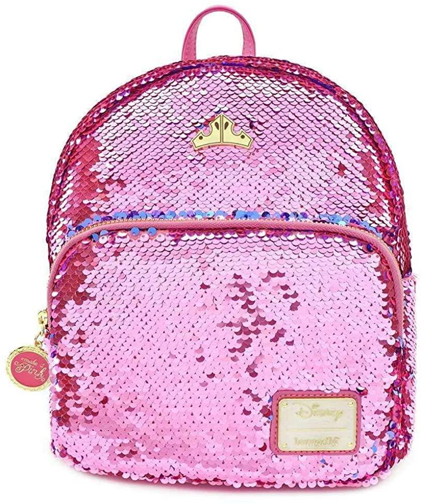 Loungefly x Disney Sleeping Beauty Sequined Mini Backpack