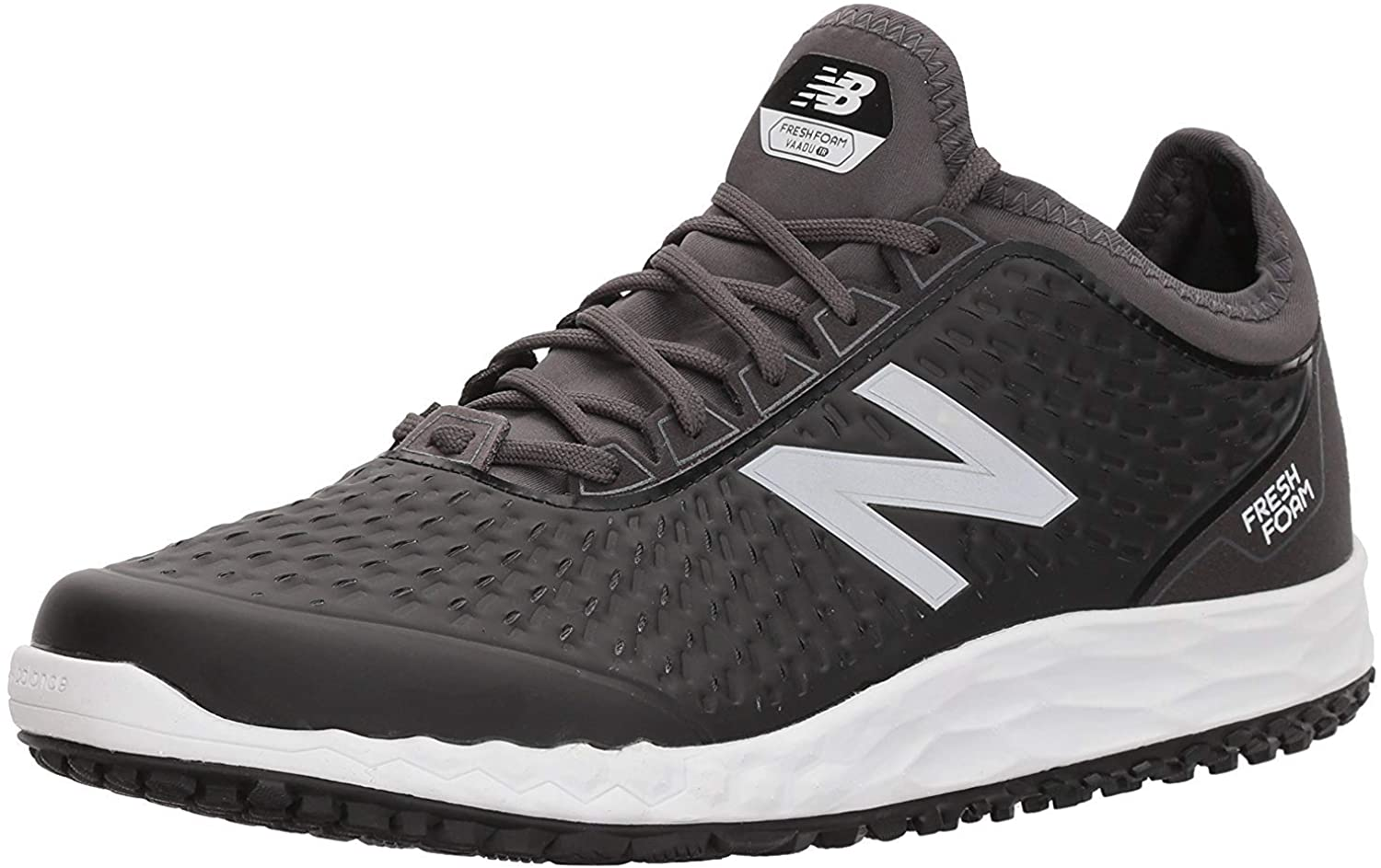 New Balance Men's Vado V1 Fresh Foam Cross, Black-White-Magnet, Size 11.5