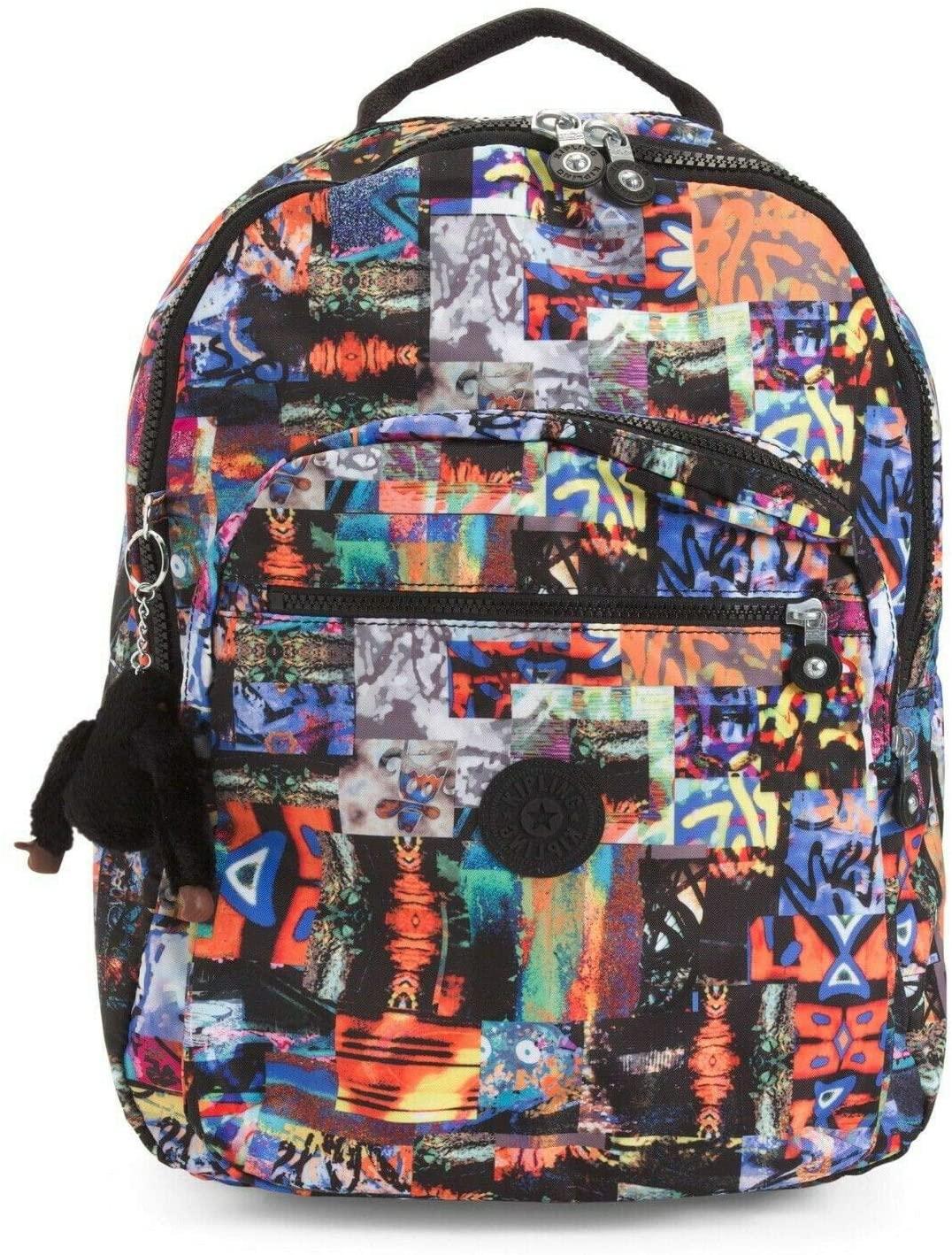 Kipling Seoul Large Backpack Extraordinary Block Print