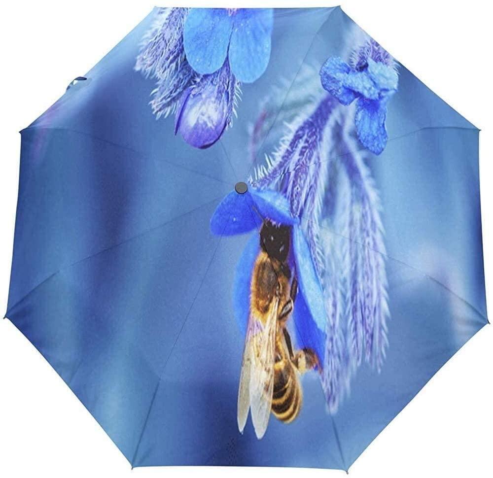 Umbrella Hummingbird Funny Golf Travel Sun Rain Windproof Auto Umbrellas with UV Protection for Girls Boys Kids
