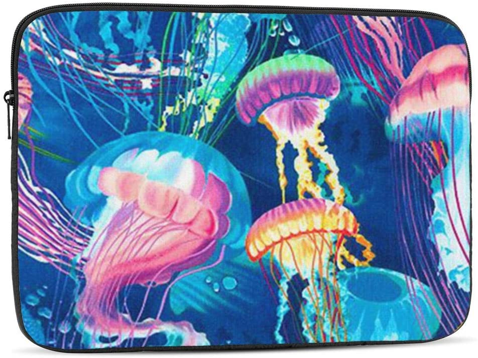 NFDF Jellyfish Laptop Sleeve Bag - Evecase 12 Inch Neoprene Universal Sleeve Zipper Protective Cover Case for Notebook