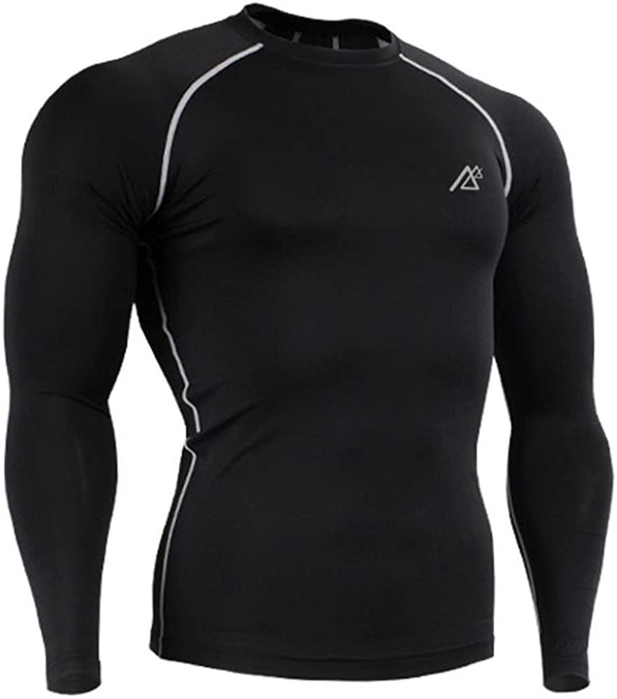 Mens Multi-use Absorb Sweat Base Layer Underwear Long Sleeve Asian Size M-4XL Black