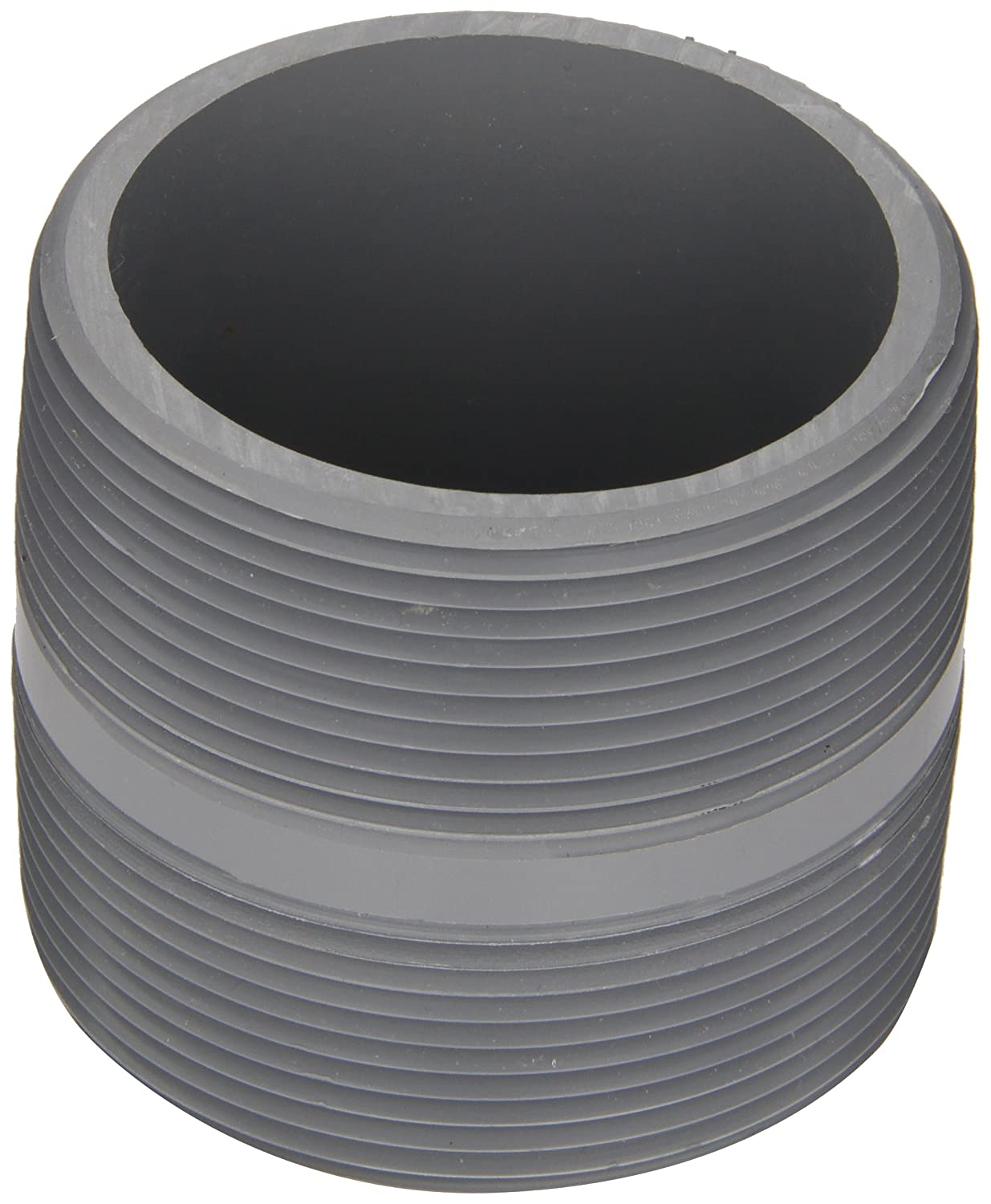 Spears 88-C Series CPVC Pipe Fitting, Nipple, Schedule 80, Gray, 1-1/4