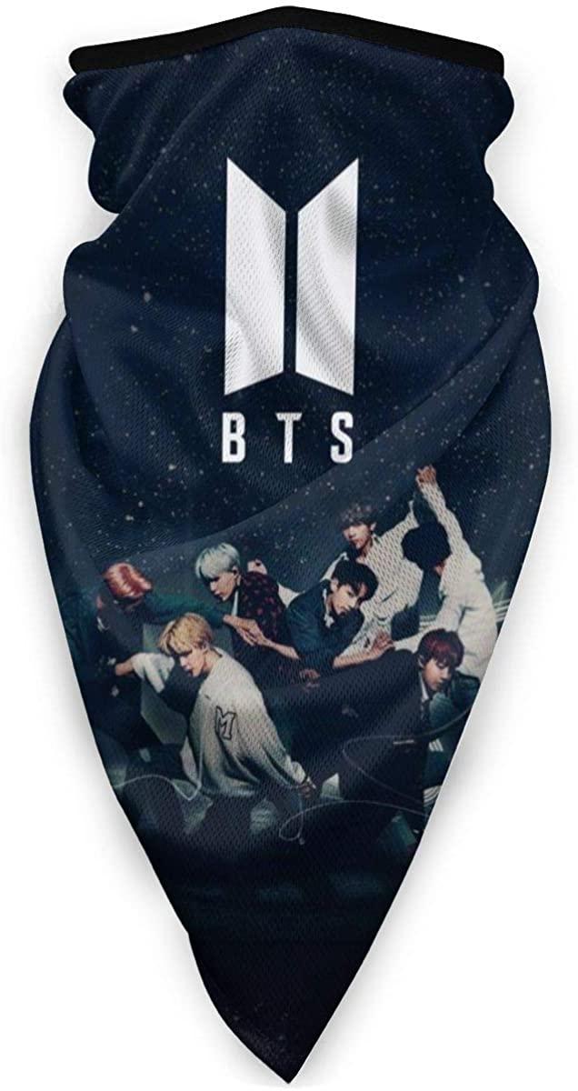 BTS Multi-Functional Face Scarf, Balaclavas Neck Gaiter Windproof Sports Bandana for Men & Women