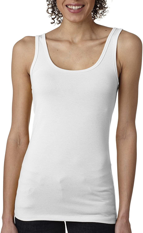 Next Level Apparel Women's 40 Singles Jersey Tank Top, White, Small