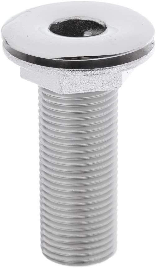D DOLITY Marine 316 Stainless Steel Straight Thru-Hull Connection for 3/4 inch 19mm Hose