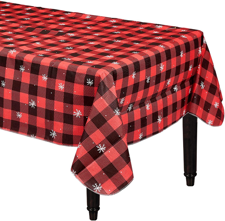 Amscan 570114 Buffalo Plaid Christmas Table Cover 52