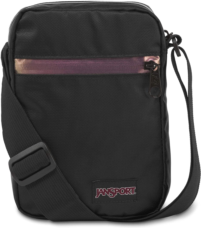 JanSport Weekender FX Crossbody Mini Bag - Lightweight Daypack, Luscious Black