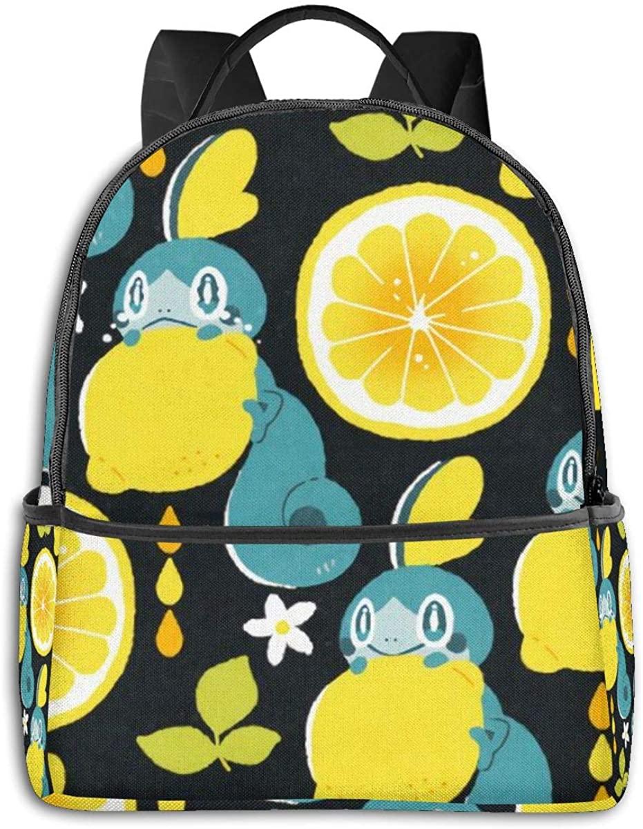 WEIYE Sobble Fun Pattern Student Black Edge Backpack