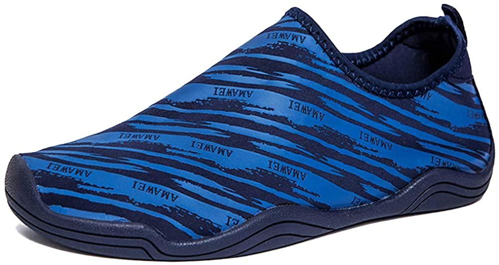 VAMV Water Shoes for Kids Boys Girls Beach Swim Shoes Slip On Aqua Sock (2 Little Kid,34-03Blue)¡