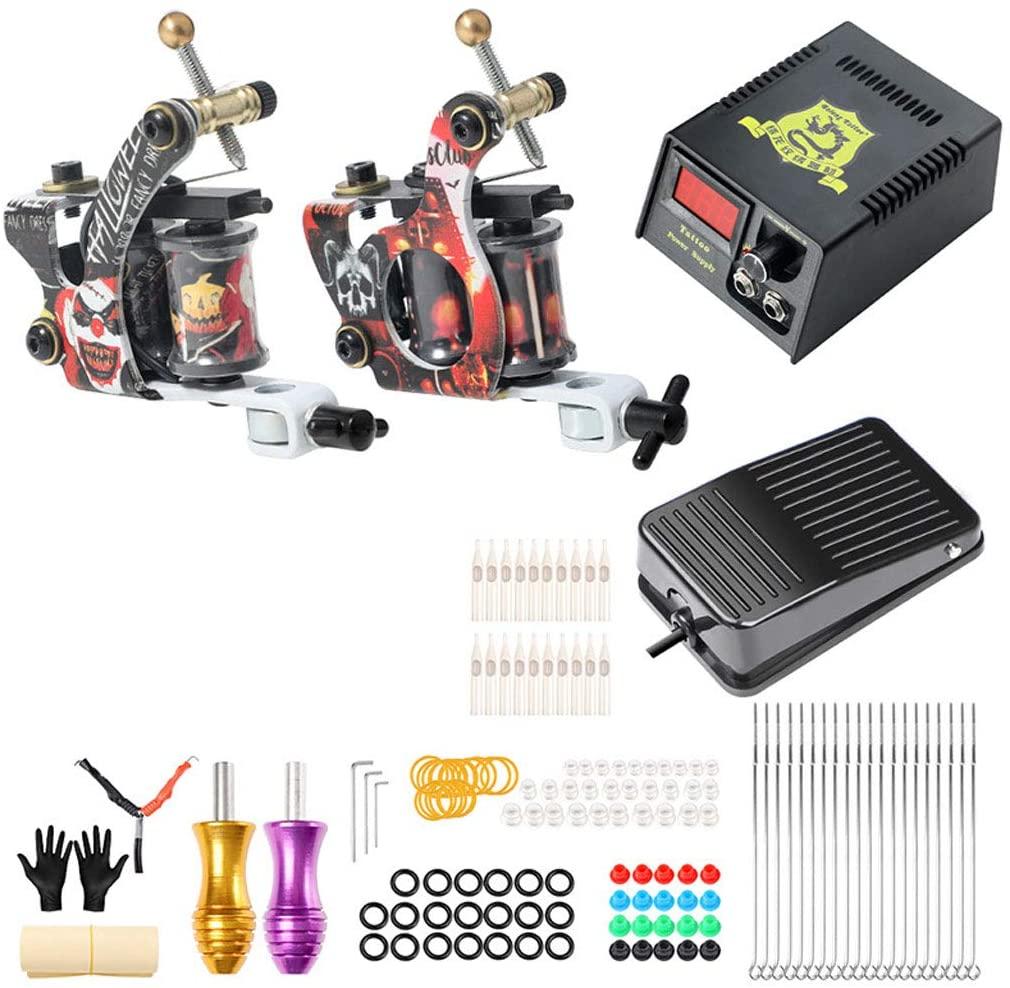 Tattoo Machine Coil Set Secant Fog Double Machine Complete Equipment Beginner Portable Artist