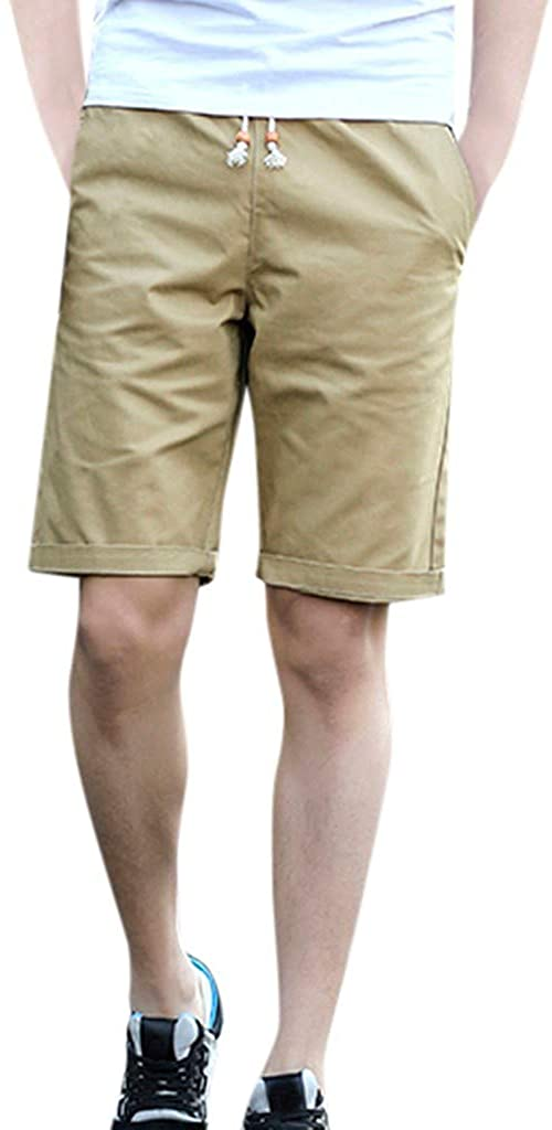 ZEFOTIM ✿ Casual Fashion Shorts for Men Summer Solid Trunks Elastic Beach Surfing Running Shorts Pants