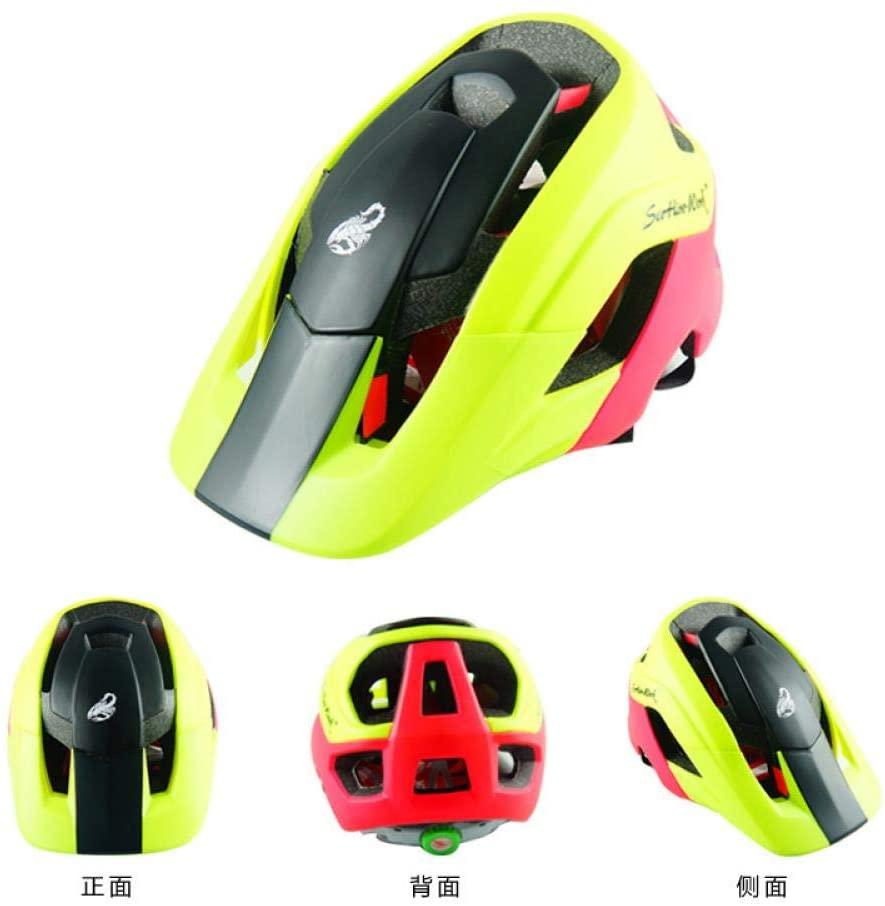 Bicycle Helmet, Mountain Bike Cross Country Helmet Motorcycle Adult Bicycle Scorpio, Black and Yellow, M