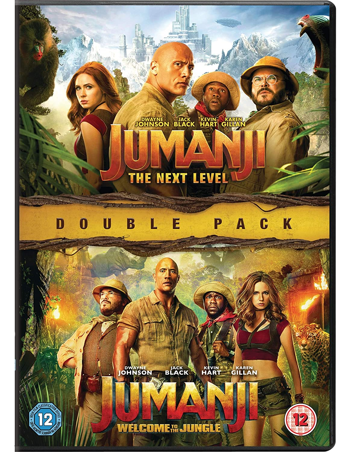 Jumanji: The Next Level & Welcome To The Jungle [DVD] [2019]