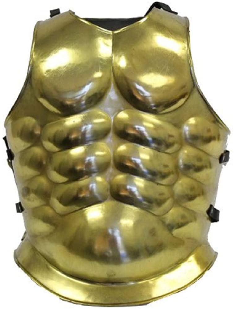 NauticalMart Greek Muscle Armor Medieval Cuirass Brass Costume Brown