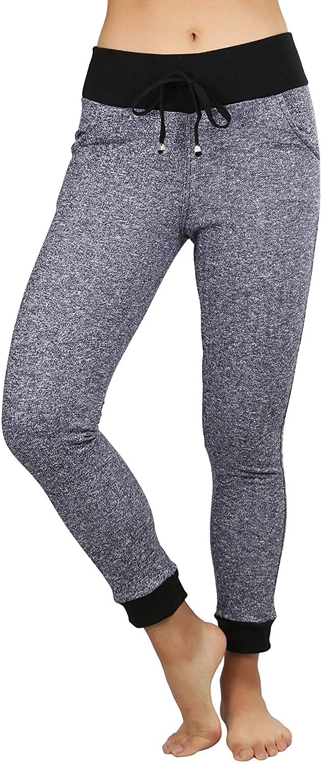 ToBeInStyle Women's Jogger Ankle Length Tapered Cuff Lounge Sweatpants