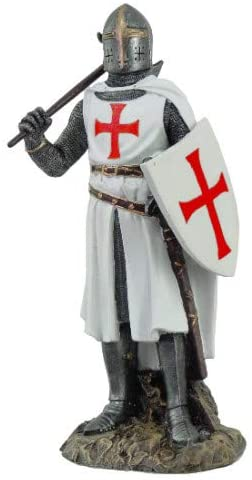 Pacific Giftware Crusader Knight in Full Shield and Sword Armor Collectible Figurine 11.5 Inch Tall