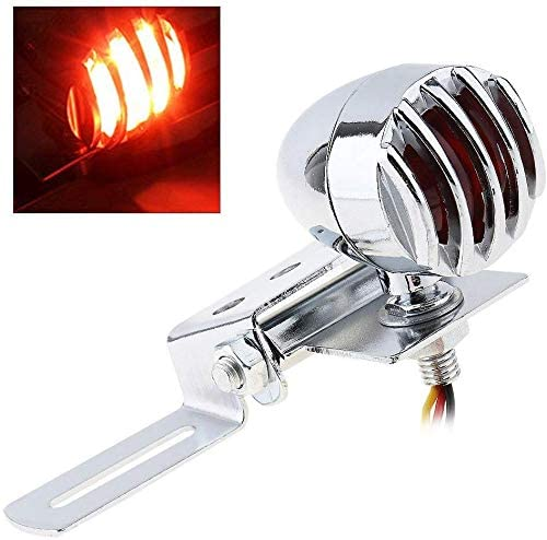 scooter 12V Motorcycle Bike LED Red Rear Tail Stop Brake Light Lamp Grill Cover