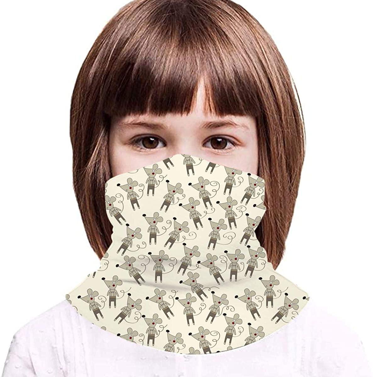 Mice Neck Gaiter Face Mask Bandana Dust Wind Sun UV Balaclava for Teen Boy Girl Outdoors